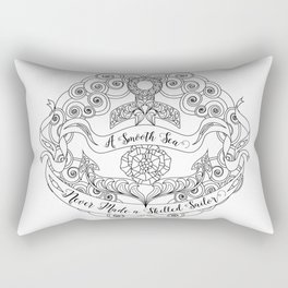 Anchor Tattoo Color Your Own Art Skilled Sailor Quote Rectangular Pillow