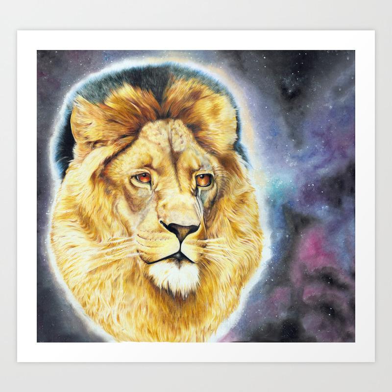 Cecil The Lion King Art Print
