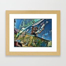 Reflection at Maria's Taco Express Framed Art Print