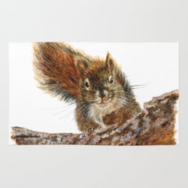 Cheeky the Red Squirrel by Teresa Thompson Rug