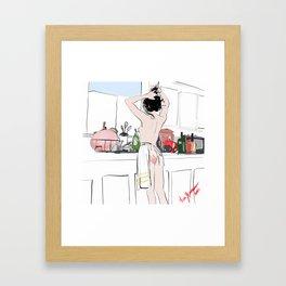 Red Hand Framed Art Print