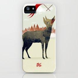 Wood Hyena iPhone Case