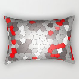 Mosaik grey white red Graphic Rectangular Pillow