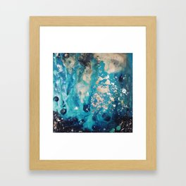 Galactic sparks Framed Art Print