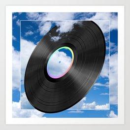 Vinyl Sky Art Print