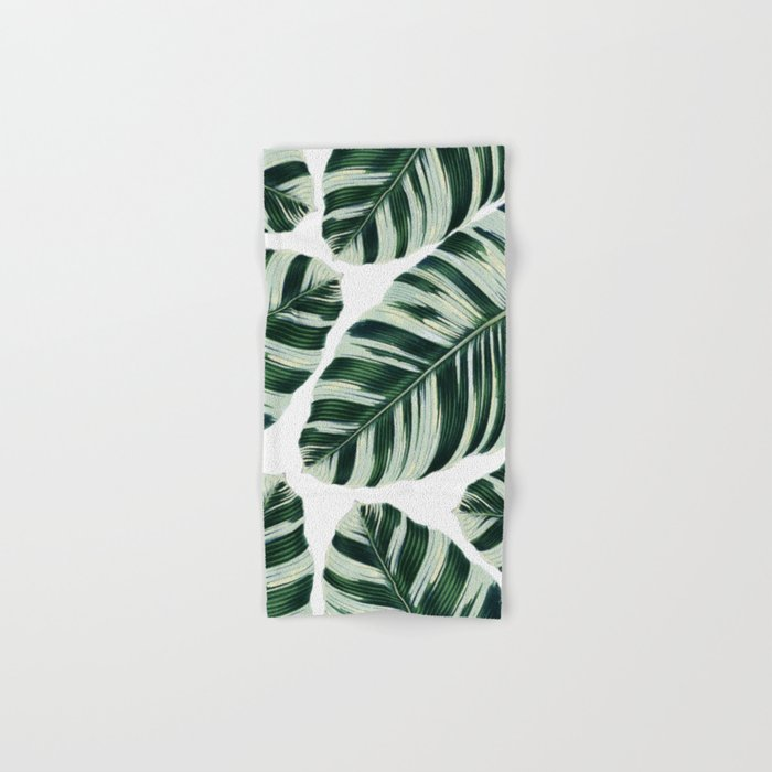 Tropical Foliage #society6 #buyart #decor Hand & Bath Towel
