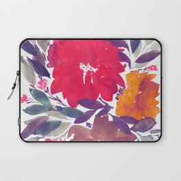 hand painted flowers_2a Laptop Sleeve