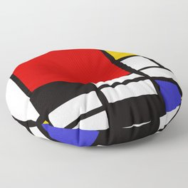Piet Mondrian - Composition with Red, Yellow, and Blue 1942 Artwork Floor Pillow