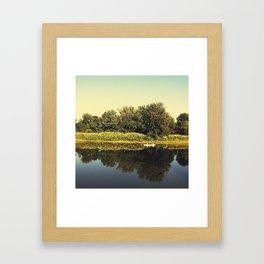 Canoe Regatta Framed Art Print