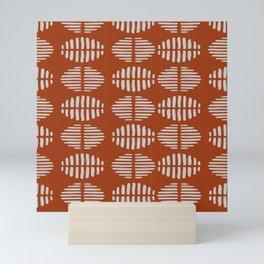 Burnt Sienna Pattern Design Mini Art Print
