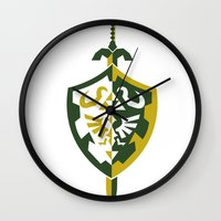 zelda Wall Clocks featuring Zelda by Brandon Riesgo