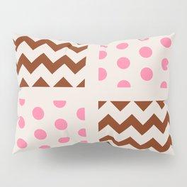 Neapolitan Ice Cream Chevron/Polkadot Pillow Sham