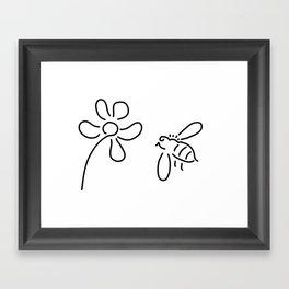 bee honey flower blossom Framed Art Print