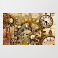 steampunk Area & Throw Rugs featuring steampunk by Ancello