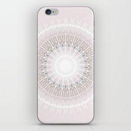 Pastel Gray Mandala iPhone Skin