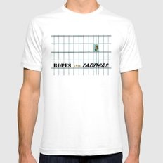 Ropes and Ladders SMALL Mens Fitted Tee White