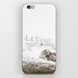 Let There Be Snow iPhone Skin