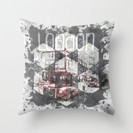 Graphic Art LONDON Streetscene Throw Pillow