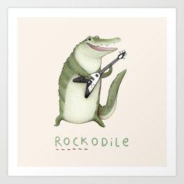 Rockodile Art Print