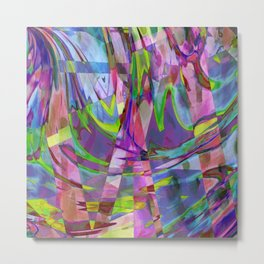 Floating In A Sea Of Fashion Colors Metal Print