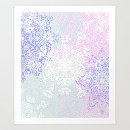 Spring Mandala on Concrete Art Print