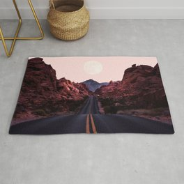 Road Red Moonrise Rug