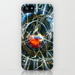 Corinne's Magic, Glass and Light Scanography iPhone Case