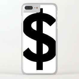 Dollar Sign (Black & White) Clear iPhone Case