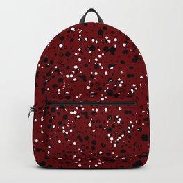 Speckled Red Backpack