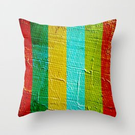 colourful wall Throw Pillow