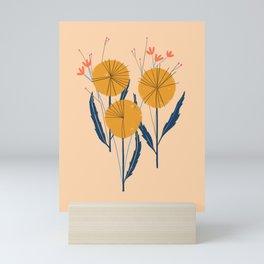 Retro Wildflower Bouquet Mini Art Print