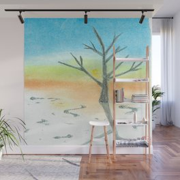 One Winter Day Wall Mural