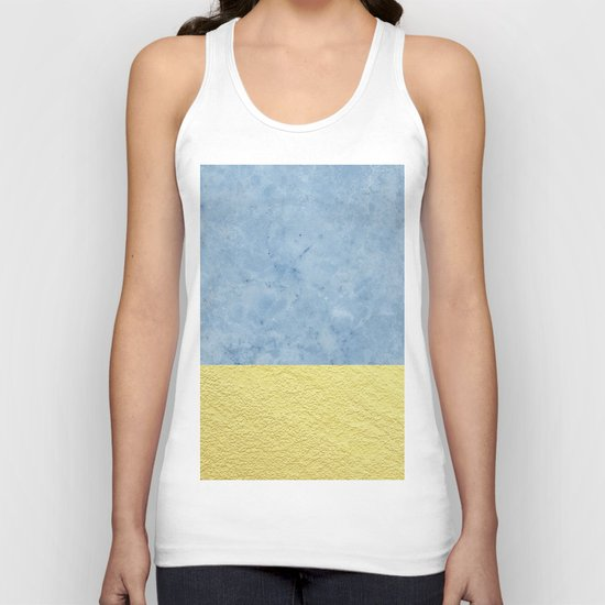 Royal blue and gold marble Unisex Tank Top