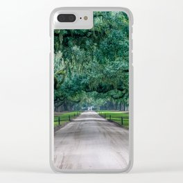 Tangled Trees Clear iPhone Case