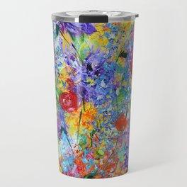 Floral Explosion 2, Floral Home Decor, Bright Colors Travel Mug