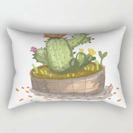 Bloom where you are planted. Rectangular Pillow