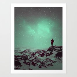 Lost the Moon While Counting Stars II Art Print