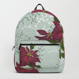 Victorian Poinsettia Christmas Backpack