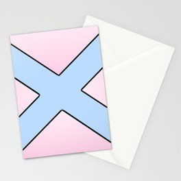 Saint andrew's cross 3 Stationery Cards