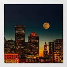 Boston Pink  Moon Canvas Print