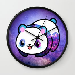 Kawaii Galactic Mighty Panda Wall Clock