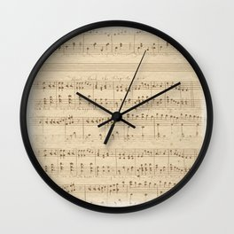 The Music Vintage Wall Clock