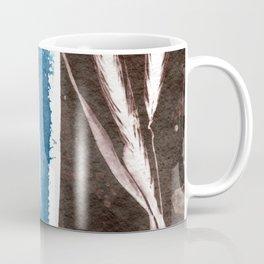 Feather, Shamrock and Grass, Botanical Print, Blue Print, Brown Print, Vintage Print, Nature Print Coffee Mug