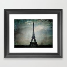 Eiffel Tower in the Storm Framed Art Print