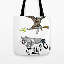 OWL WOLF ALLIANCE 3 Tote Bag