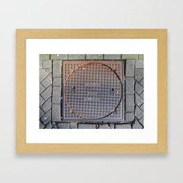 manhole Amsterdam Framed Art Print