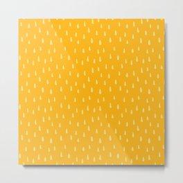 Honey Drop Pattern Metal Print