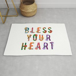 Bless Your Heart Meaning Southern Insult Humor Rug