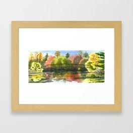 Golfers Bridge, Briars Framed Art Print