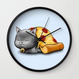 Purrpurroni Pizza Wall Clock